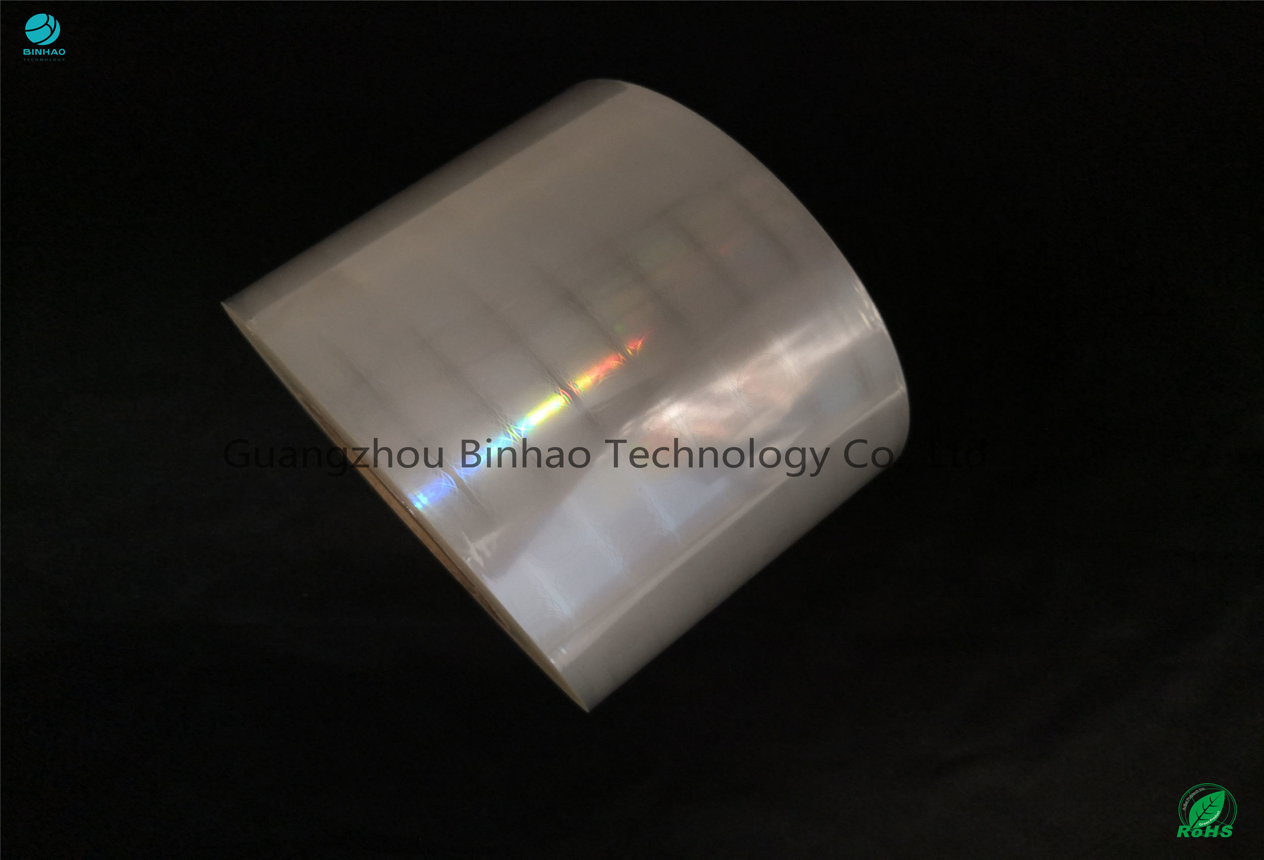 Wetting Tension 52 ≥ mN/m BOPP Holographic Film Laser For Cigarette Package